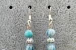 Orecchini pendenti - orecchini con perline fatte a mano azz
