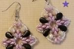 Orecchini Coral nei toni del rosa e nero
