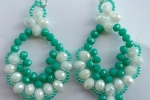Orecchini verde acqua cristallo donna pendenti Moda