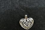 Orecchini pendenti - orecchini con charms cuore tipo filigr