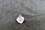 Orecchini pendenti - ore3 con charms cuore smaltato rosa