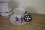 Orecchini cupcake viola fimo con stella