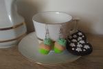 Orecchini cupcake in fimo verdi