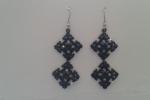 Orecchini da donna pendenti con perline e swarovski