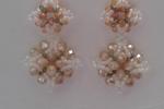 Orecchini da donna pendenti con perline e mezzi cristalli