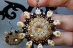Orecchini daisy fatti a mano