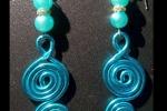 Orecchini double spiral