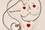 Orecchini e collana con angeli in paste polimeriche