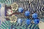 Orecchini fiore azzurri