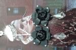 Orecchini fiore nero