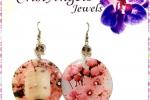 Orecchini fiori di ciliegio giapponesi in resina