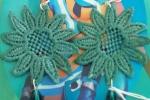 Orecchini fiori filo