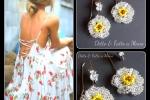 Orecchini Flor con perline