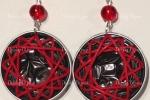 Orecchini forme geometriche rosse