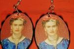 Orecchini Frida con passamanería in cotone