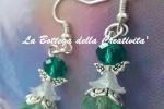 """Orecchini handmade pendenti """"Angelo"""" cristalli vari colori"""