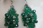 Orecchini verdi handmade con perline