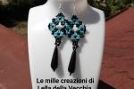 Orecchini handmade azzurri e neri