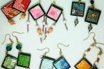 Orecchini in carta preziosa artigianale giapponese Washi