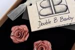 Orecchini in fimo rose rosa antico fatte a mano