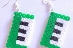 Orecchini in hama beads con tastiere musicali