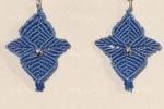 Orecchini in macramè color azzurro