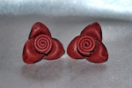 Orecchini in pelle a forma di rose - Leather earrings with