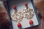Orecchini Gocce in perle di Majorca amaranto