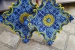 Orecchini in pizzo blu