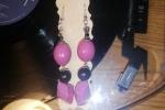 Orecchini in resina, a forma di cristalli rosa ✨.