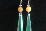 Orecchini in resina a forma di cristalli verdi ♥️✨.