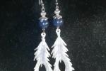 Orecchini in resina a forma di piume con pietre blu ♥️✨.