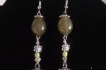 Orecchini in resina di color argento e verde ♥️✨.