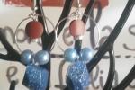 Orecchini in resina di colore azzurro e marrone ♥️✨.