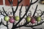 Orecchini in resina epossidica di colore viola e verde ♥️✨.