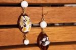 Orecchini in vetro di Murano pendenti fatti a mano