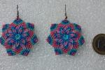 Orecchini fiore di mandala realizzato