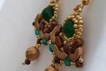 Orecchini Martina nei toni del bronzo, verde e oro