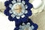Orecchini medi di colore blu