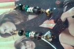 Orecchini multicolore con swaroski