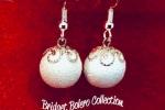 Orecchini natalizi in paste polimeriche - palle di neve