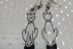 Orecchini pendenti serie Ecogioielli - i gatti matti