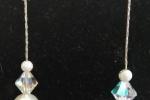 Orecchini pendenti con perle e cristalli Swarovski