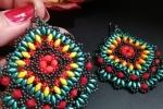 Orecchini pendenti etnici grandi multicolore