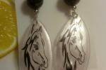 Orecchini pendenti Serie gli Ecogioielli - Horses
