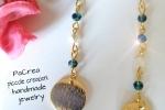 Orecchini con cristalli swarowski e stelline in madreperla