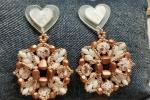 Orecchini Quadrifoglio in tessitura di perline