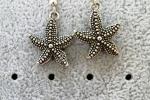 Orecchini pendenti - orecchini con charms stella marina
