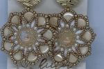 Orecchini Swarovski Ginko Flowers in bianco e oro