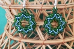 Orecchini Swarovski con tessitura di perline